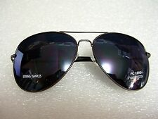 EXTRA  LARGE PREMIUM AVIATOR SUNGLASSES FLASH MIRROR LENS GUN METAL FRAME