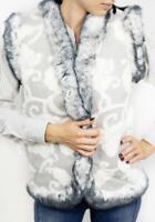 Women Winter Vest Jacket Coat Sleeveless Super Warm Sheepskin Sheep Wool Soft