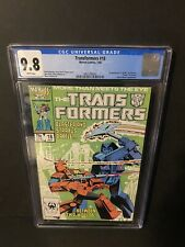 Transformers #18 CGC 9.8 White Pages 1st Appearance of Crosscut Death of Straxus