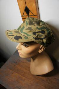 NEW True Vintage Wearguard Uniform Duck Camo Woodland Vtg Hunting Hat Cap OSFM