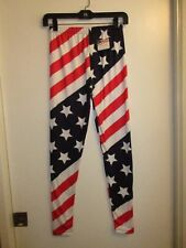 The Flag Shirt S Legging Tight American Flag USA Print Stars Stripes Red White