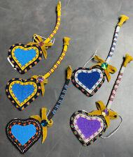 "Indigenous/ Native Beadwork: Key ""heart"" Lanyard LOT of 5"