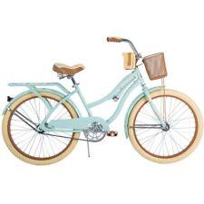 "Womens Beach Cruiser Bike 24"" Vintage Bicycle Basket Ladies Urban Cruising Mint"