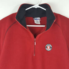 Disneyland Resort Mens Mickey Mouse 100% Polyester LG 1/4 Zip Pull Over Sweater