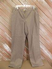 Lark Lane Pants Pastel Party Brown w/Glitter Women's Size 14 NWT  $58 Retail