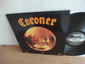 CORONER - R.I.P. - LP 1987 - TOP (kreator samael artillery) Thrash, Speed Metal