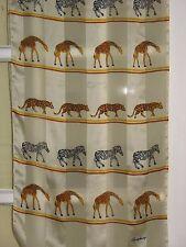Symphony Long Scarf  Animal Print Zebra Giraffe Tiger Pale Yellow Brown Black