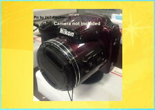 B500: FRONT SNAP ON LENS CAP DIRECTLY to CAMERA NIKON COOLPIX B500 B 500+ HOLDER