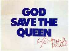 SEX PISTOLS 'God Save The Queen' 45rpm Single A&M Window Poster - reprint