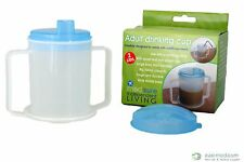 Adult Drinking Cup complete with 2 Lids 300ml - Easy Grip Handles