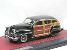 Matrix Scale Models 1942 Chrysler Town & Country Station Wagon black Woodie 1:43