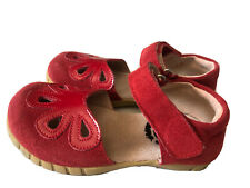 EUC LIVIE & LUCA Petal Shoes Petals Red Suede 10
