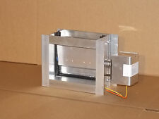 "HVAC Aluminum Motorized Damper (8""x6.25"" O.D.), 24 Vac Power open/Spring close"