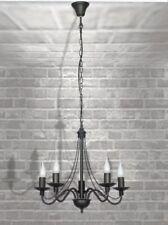 Lámparas de araña de iluminación de techo de interior de metal color principal negro