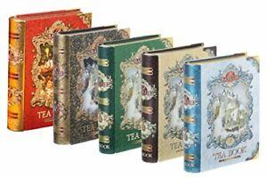 BASILUR 100%CEYLON TEA GIFT BOOK COLLECTION VOL 1 TO V METAL CADDY GIFT 100g