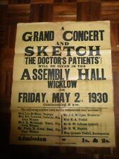 1930 Concert Poster Wicklow