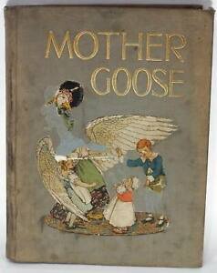 ✅ MOTHER GOOSE 1915 3RD PRINTING VOLLAND POPULAR EDITION - GROVER - RICHARDSON