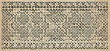 A4156 Ricamo a catenella - Incisione - Stampa Antica del 1891