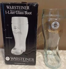 "WARSTEINER NEW GERMAN BEER BOOT 9.5"" HIGH GLASS 1L IN ORIGINAL BOX"