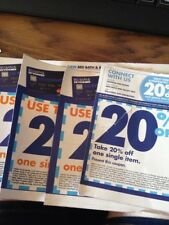 LOT OF 4- Bed Bath And Beyond 20% Off  Single Item Coupons