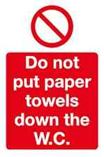10x non mettere asciugamani di carta verso il basso la WC-WC segno 100 X 150mm (hc50h)