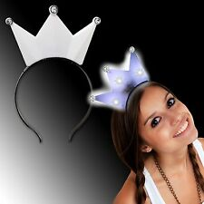 8 Pcs Light-Up Glow Princess Tiara Crown LED Blinking Headband Birthday Party