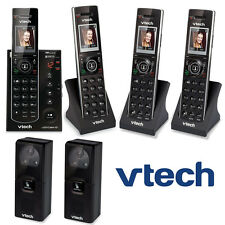 2 Video Porch Doorbell Cameras 4 Cordless Phones IS7121-2 + 2 IS7101 + IS741