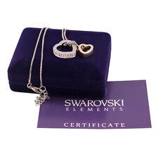 Collana donna argento e oro Swarovski Elements originale G4Love cristalli cuore