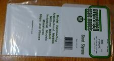 "Evergreen Styrene #4080 6 x 12"" Styrene Siding Sheet, V-Groove .040"" Thick  .080"