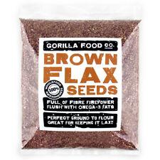 Gorilla Food Co. Brown Flax Seeds (Linseeds) - 200g-6.4kg (Great value £ / 1kg)