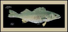 Realfish Gyotaku Series Walleye Fish Mat Floor Mat Doormat with border 18x40