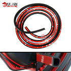 4M D-Shaped Door Rubber Weather Seal Hollow Strip Dust-proof Black For Car Truck