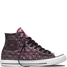 NIB Converse CT Hi the Clash Skull and Crossbones Black/Pink 155073C US Mens 9