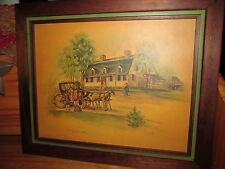 Antique Litho by Morris & Bendien N.Y. Wilde's Tavern, Milton, Mass.,Signed Lang
