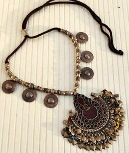 Handmade Afghan Vintage Banjara Rare Tribal Kuchi Boho Gypsy Pendant Necklace
