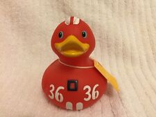 RARE Retired RACER DUCK Red Deluxe BUD Luxury Rubber Duck Duckie NIB Original