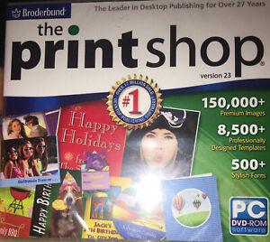 Broderbund The Print Shop Version 23 PC DVD Rom Desktop Publishing Software