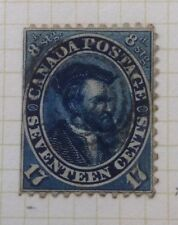 .1859 Canada #19. 17c blue Jacques Cartier used CV 190