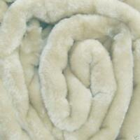 LARGE Cream Mink FUR Blanket Sofa / Bed Throw 150X200