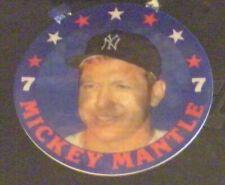 "Mickey Mantle 1980's 7 Eleven Slurpee 3D Disc (4 1/2"" Dia) - NY Yankees"