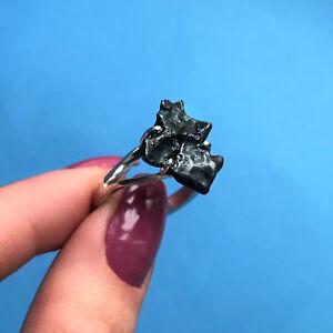 Meteorite Sikhote-Alin Ring Sterling Silver