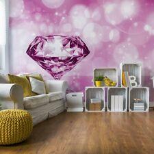 Tapete Vlies Fototapete Luxus Muster rosa Diamant