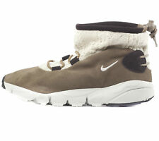 Nike Women's Air Baked Mid Top Suede Textile Casual Trainers Boots Khaki