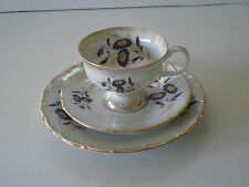 VINTAGE POLISH FLORAL GILDED PORCELAIN TEA SET / CHODZIEZ POLAND