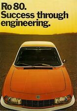 NSU Ro80 1972-75 UK Market Sales Brochure