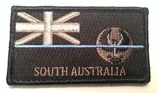 SA Police Patch, State Flag, Thin Blue Line, Law Enforcement, Hook Rear, TBL
