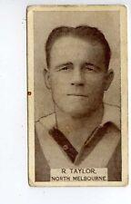 (Gs797-100) Wills Australia, Footballers, #43 R.Taylor North Melbourne 1933 G-VG