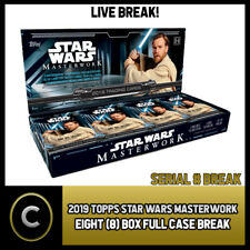 2019 TOPPS STAR WARS MASTERWORK 8 BOX MASTER CASE BREAK #N006 - SERIAL #
