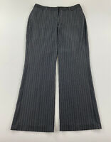 "EXPRESS EDITOR - Women's Size 4 (31"" X 29""ins) - Grey Striped Career Dress Pants"