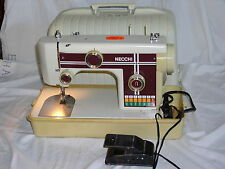 Vintage Necchi 522 Sewing Machine in Carrying Case